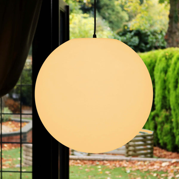 Large Pendant Lamp, 40cm Hanging Ball Light, Warm White E27 LED
