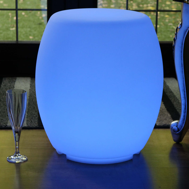 Illuminated Stool Furniture, Cordless LED Floor Lamp for Living Room