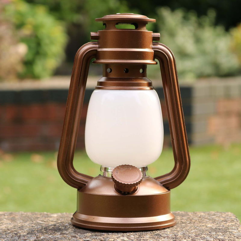 LED Hurricane Lantern, Battery Powered Dimmable Hanging Storm Lamp