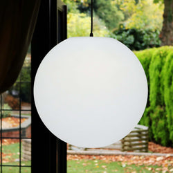 Large Hanging Lamp, Ceiling Pendant Light, 40cm Ball, LED E27 White