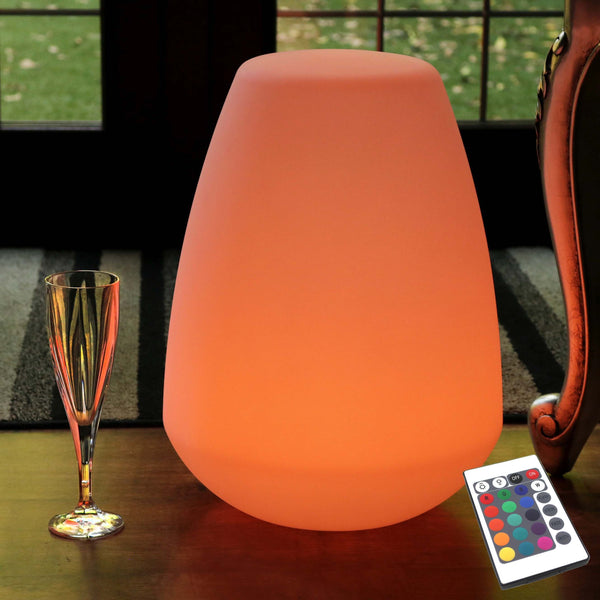 Modern Cordless LED Table Lamp, Waterproof RGB Garden Light, 40cm