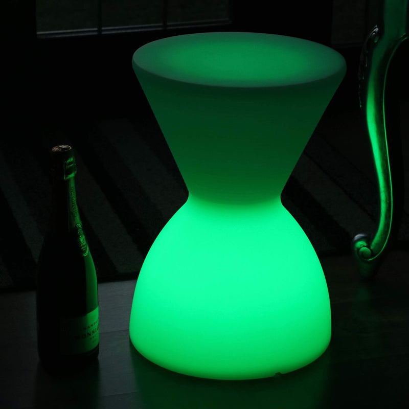 LED Drum Stool Seat Table, Rechargeable Floor Lamp for Living Room, RGB Sensory Mood Lighting