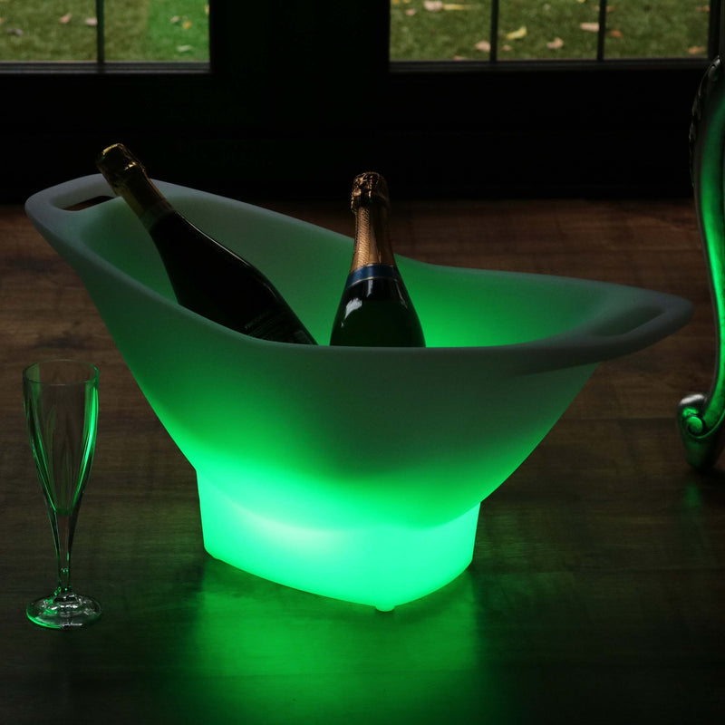 LED Champagne Ice Bucket with Remote, Cordless, Multicolor