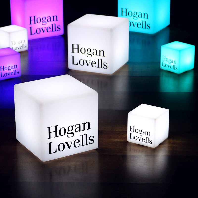 Customized Branded Light Box, Multi-Color Free Standing Display Lamp, Printed Cube 30cm