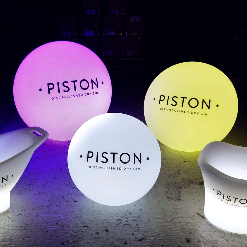 Personalised Multi Colour LED Light, Round Floor Lamp, Advertising Lightbox with Logo
