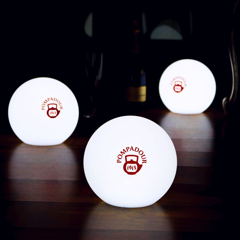 Customised LED Table Lamp, Round Logo Light Box, Free Standing Illuminated Display Signage