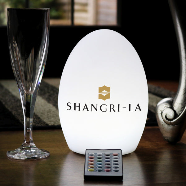 Personalised Colour Changing LED Table Centre Display Light, Custom Branded Lamp with Logo