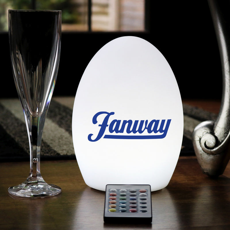 Personalised Table Centre Lightbox, Custom Printed Rechargeable LED Sign Lamp with Logo