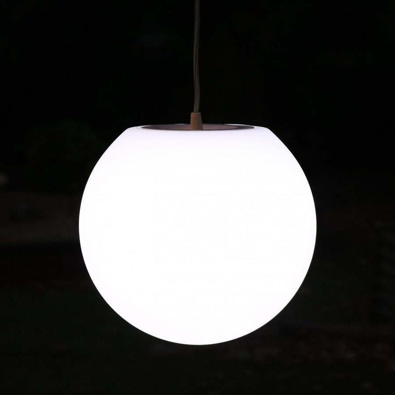 Pendant Lamp, 20cm White Sphere Ceiling Light, LED Bulb Installed