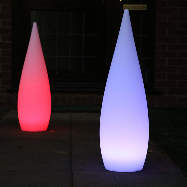Designer Cordless Floor Lamp, Outdoor Multicolor LED Garden Light