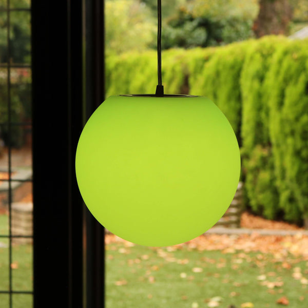 Pendant Ceiling LED Lamp with Remote, Modern RGB Ball Light, 25cm