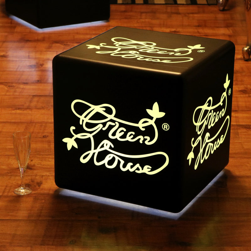 Personalized Branded LED Table Lamp, Advertising Illuminated Cube Light Box 20cm, E27