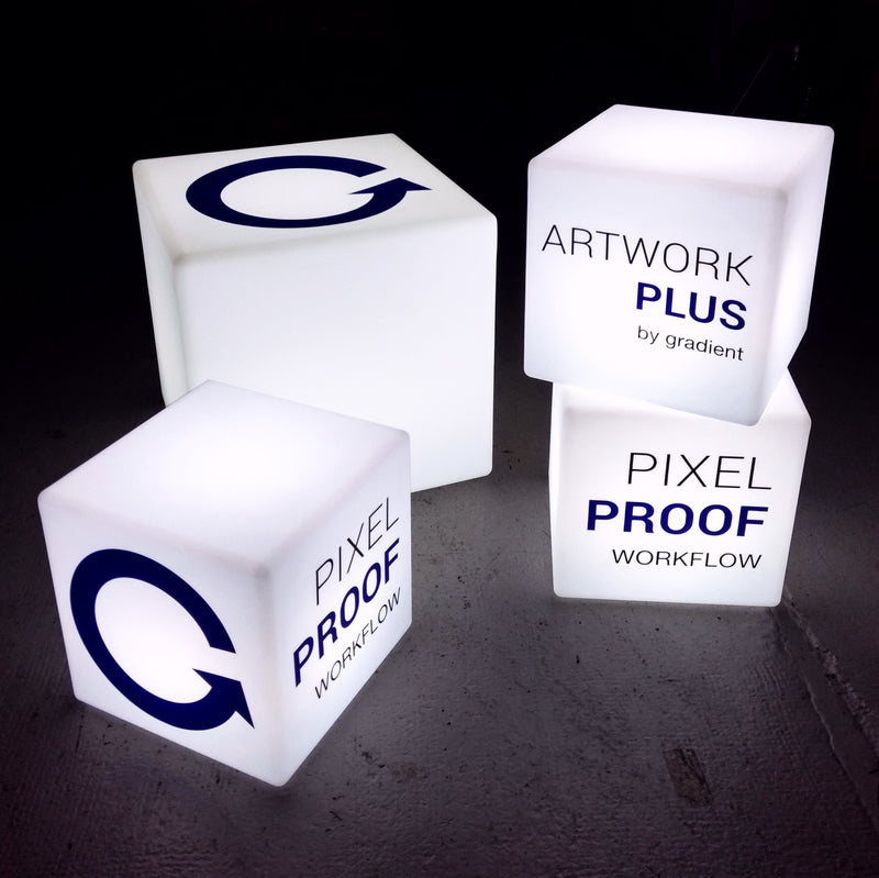 Custom Promotional Table Lamp Lightbox, LED Cube, Free-Standing Illuminated Display Sign