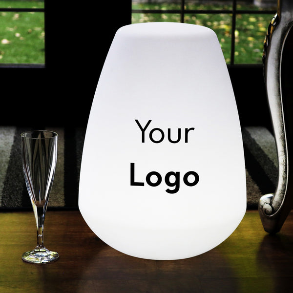 Custom Multicolour LED Lamp, Personalised Logo Lightbox, Freestanding Wireless Floor Lamp