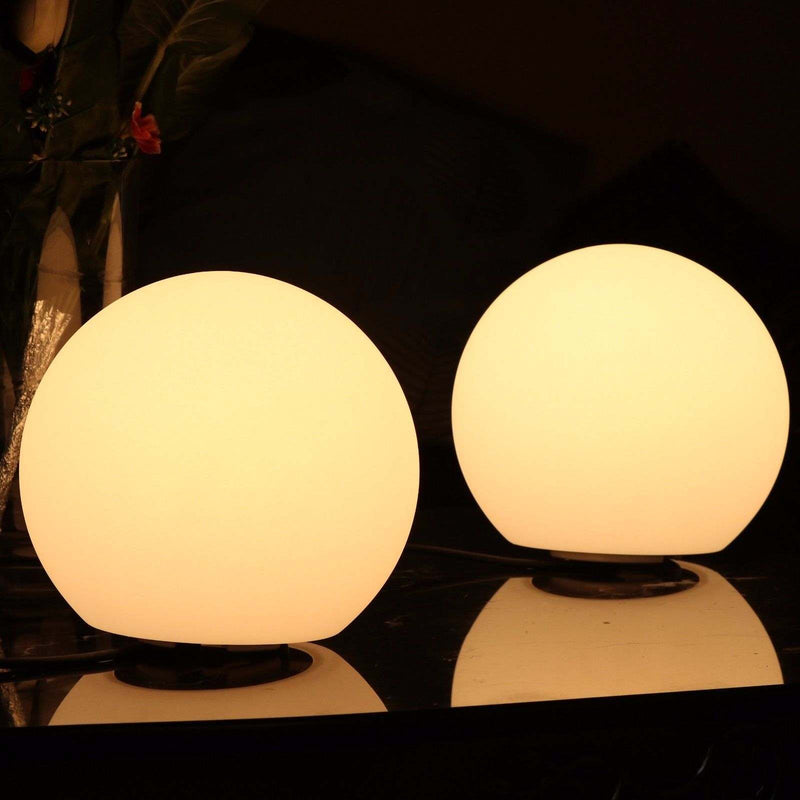 Dimmable LED Ball Table Lamp, 25cm Decorative Globe, Warm White Light