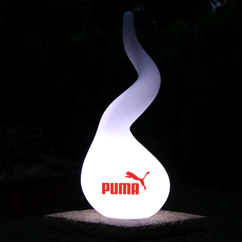 Personalised Spiral Floor Lamp, Wireless Custom Printed LED Display Sign Light with Logo