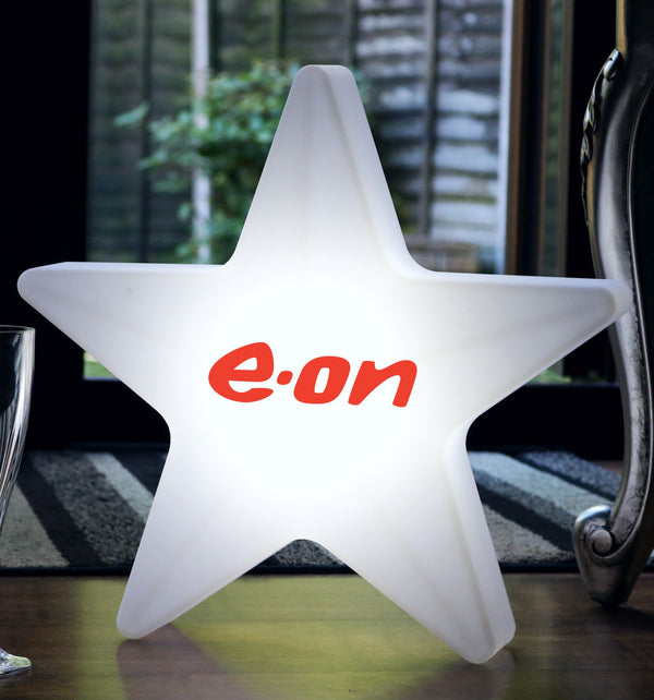 Personalised Backlit LED Star Light Box, Custom Branded Free-Standing Cordless Table Floor Lamp