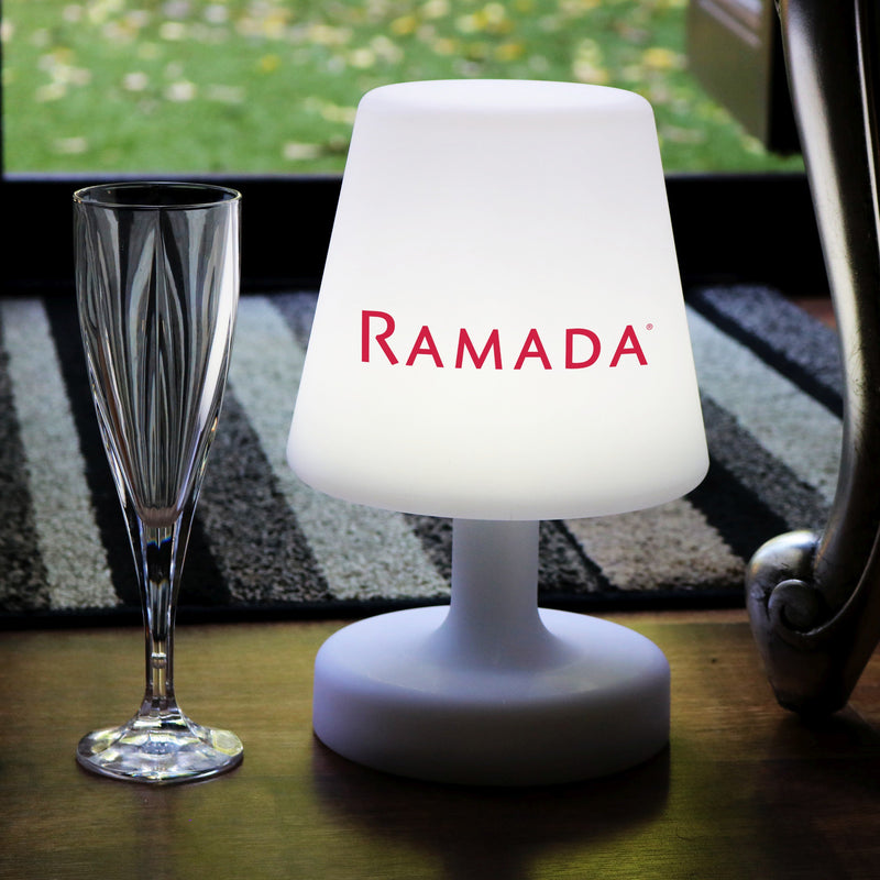 Customised LED Table Lamp with Logo, Rechargeable Personalised Display Table Centre Lightbox