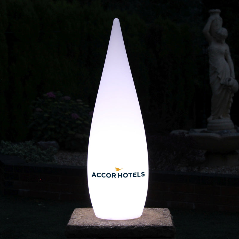 Personalised Decorative LED Floor Lamp, Custom Branded Outdoor Light Box with Logo, 80cm