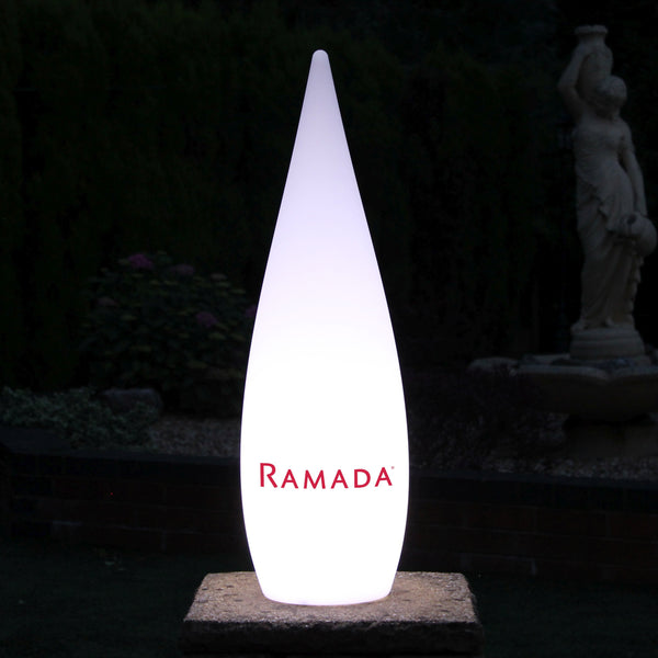 Large Personalised Free Standing Lamp, Wireless Custom Outdoor Designer Light Box, 120cm