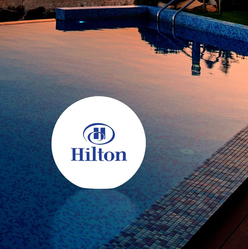 Large Personalised Floating LED Pool Light, Branded Lamp for Outdoor Events, Ponds, Weddings