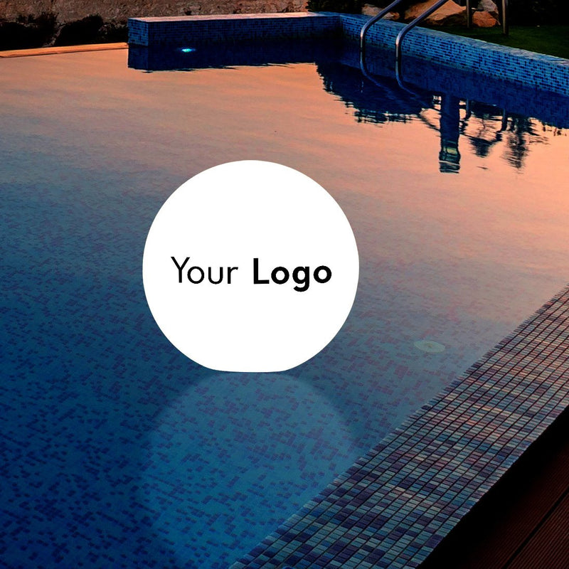 Personalised Floating Light for Pool, Outdoor Garden Ball Lamp, Custom Printed with Logo