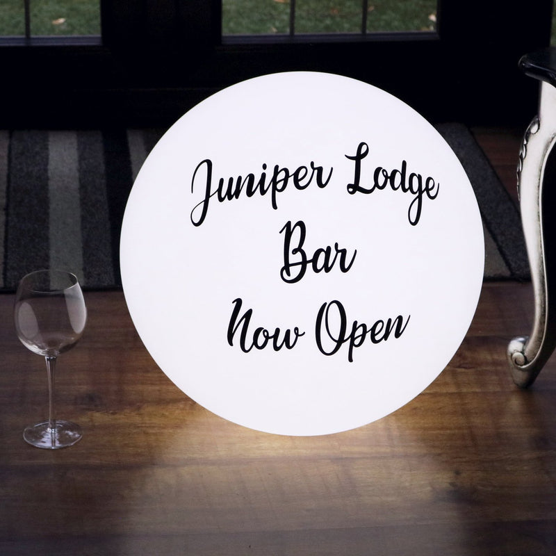 Promotional Light Box, Circular Floor Lamp, Freestanding Illuminated Display Sign, Large 60cm Ball