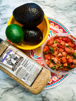 Guacamole served in bowl with Bold & beefy shaker