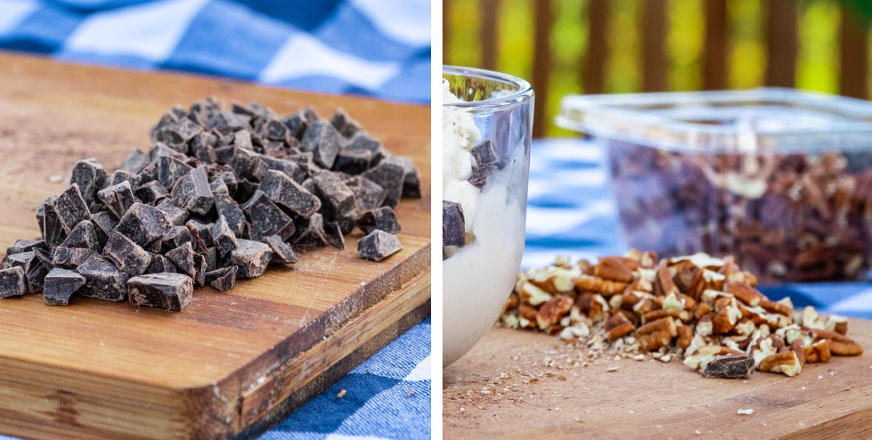 Chopped Chocolate Chunks and Pecans