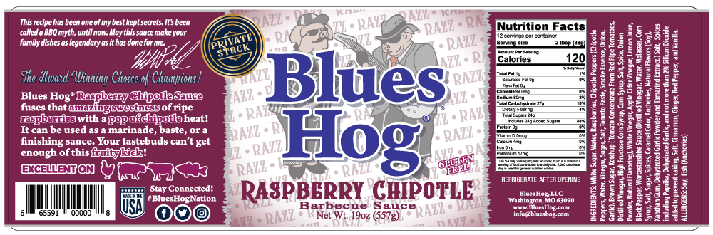 Raspberry Chipotle BBQ Sauce 19 oz. - Blues Hog