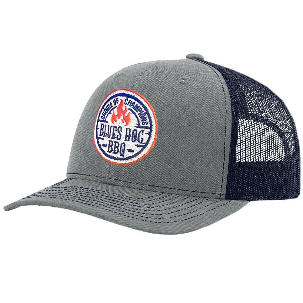 Choice of Champion Hat Grey/Navy - Blues Hog