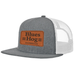 Gray Leather Patch Hat