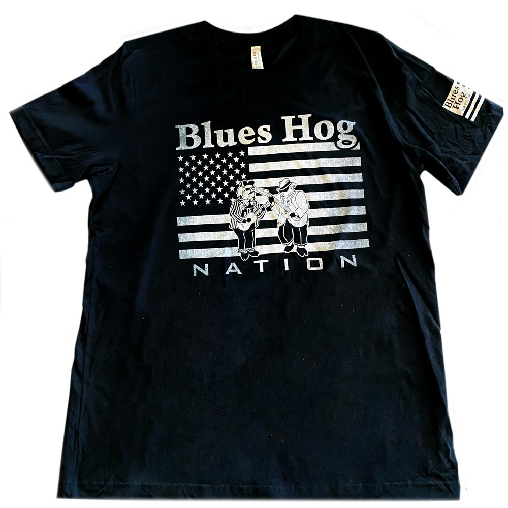 BH Nation Flag Short Sleeve Shirt - Blues Hog