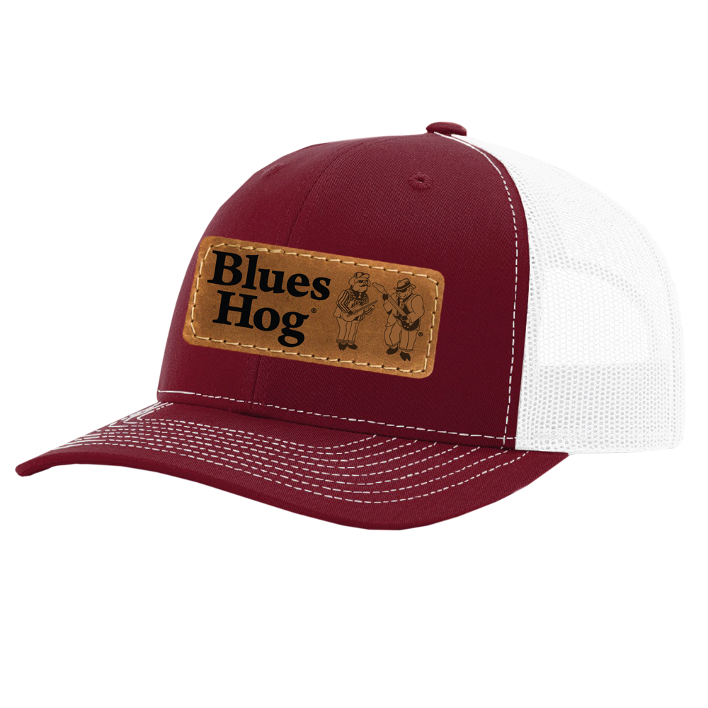 Red Leather Patch Hat - Blues Hog - Blues Hog