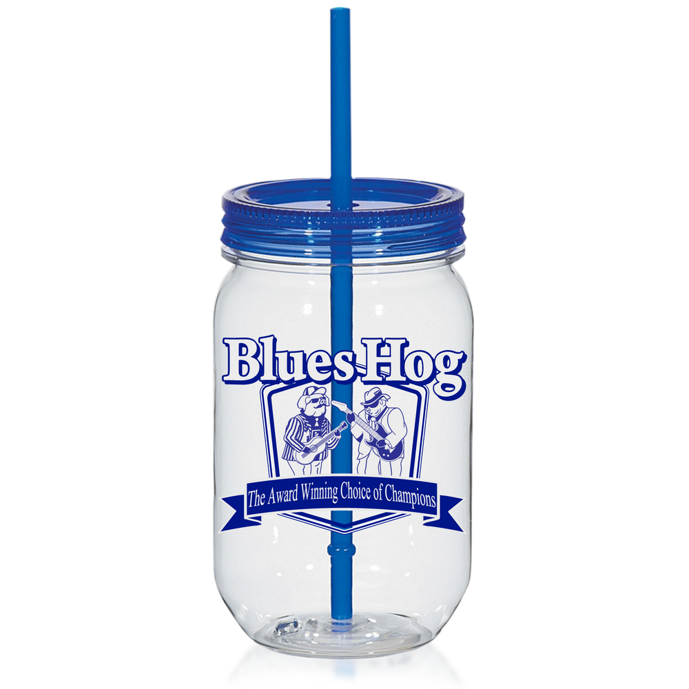 Blues Hog Logo Mason Jar Cup