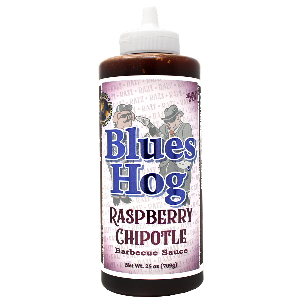 Raspberry Chipotle BBQ Sauce Squeeze Bottle 25 oz. - Blues Hog