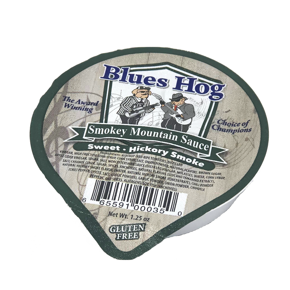 Smokey Mountain BBQ Sauce 1.25 oz Foil Cup - CASE of (80) - Blues Hog