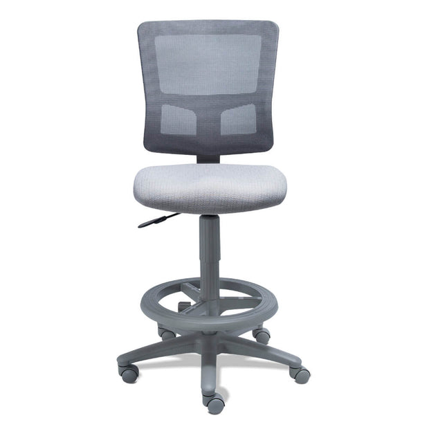 Requiez RS-680-45GR silla para oficina, operativa, de trabajo, asiento y respaldo ergonómico, con descansa pies-Silla para oficina-Requiez-NOGAL BEAT-Silla Requiez RS-680-45GR | Nogal Beat | Envíos Gratis Disponibles