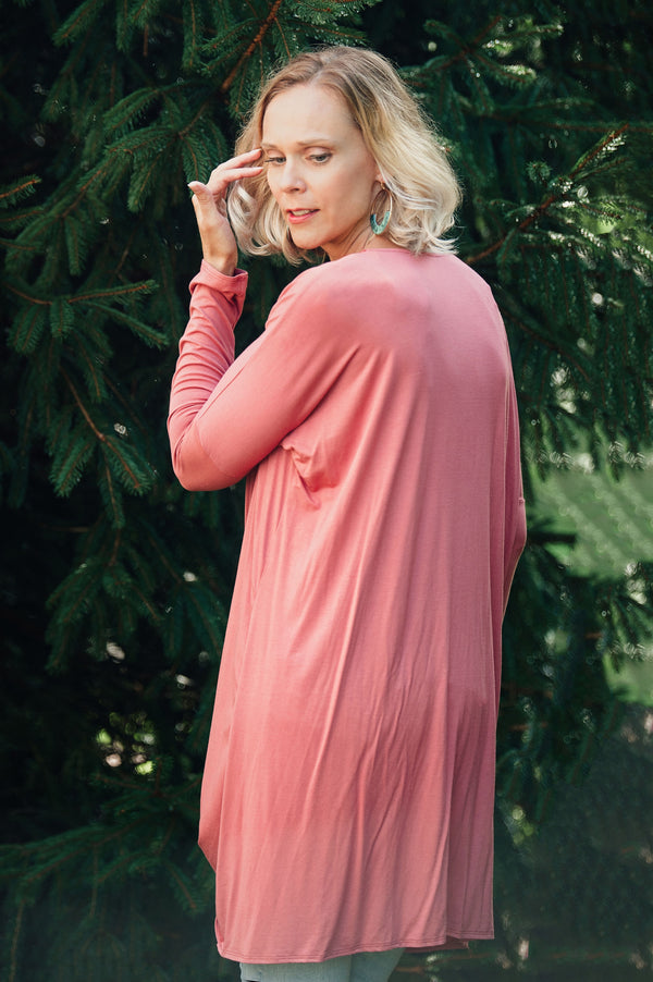 More Love Drape Top  - The Peach Mimosa