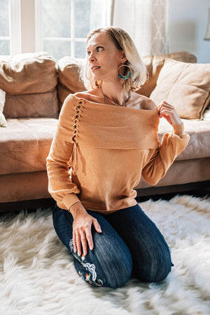 Pumpkin Spice Daydreams Sweater  - The Peach Mimosa