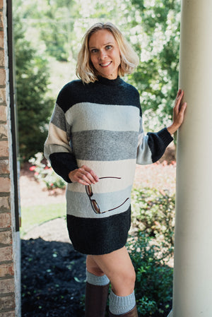 Falling in Love Sweater Dress  - The Peach Mimosa