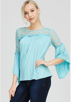 Mirabelle Lace Top  - The Peach Mimosa
