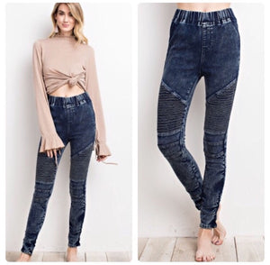 Moto Jeggings  - The Peach Mimosa