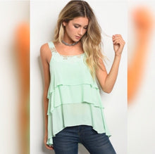Load image into Gallery viewer, Fun in the Sun ruffle tank  - The Peach Mimosa