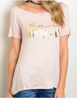 Bottomless Mimosas Tee  - The Peach Mimosa