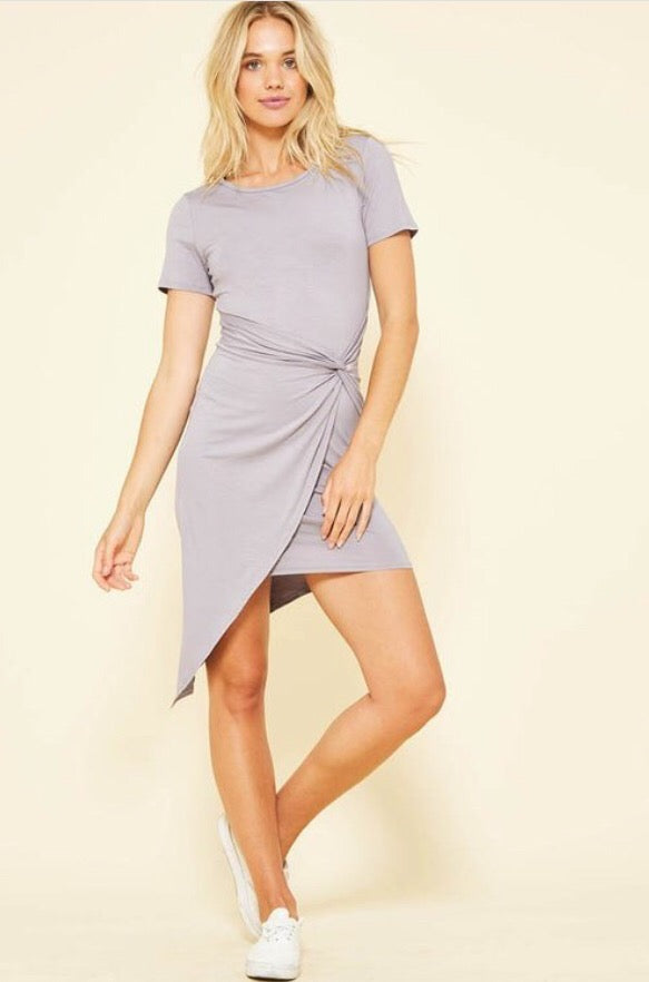 Audrey Knotted Dress  - The Peach Mimosa