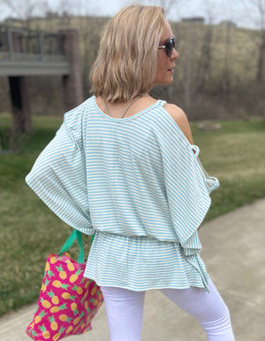 Afternoon Stroll Striped Top