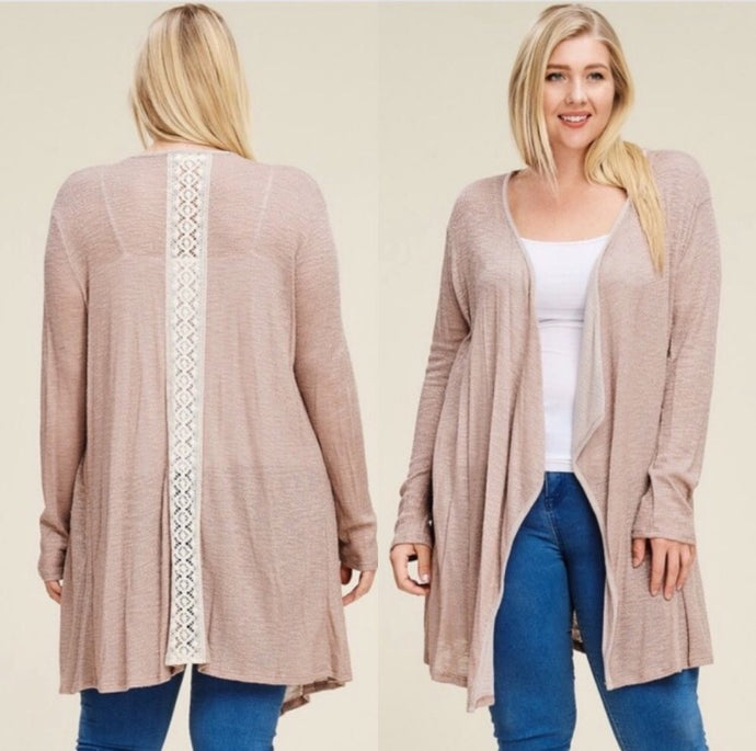 Crochet Lace Cardi  - The Peach Mimosa