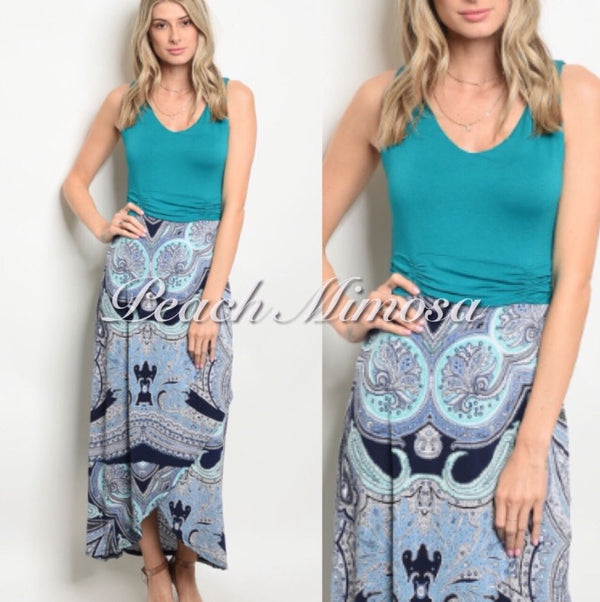 Bahama Breezes Maxi Dress  - The Peach Mimosa
