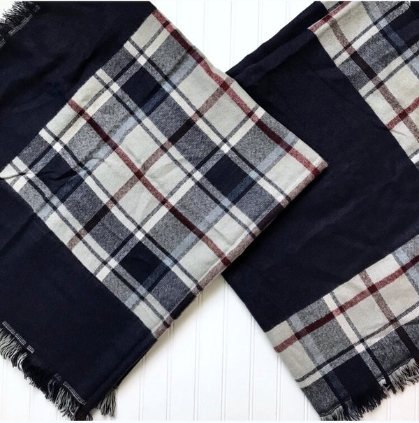 Plaid Blanket Scarf  - The Peach Mimosa